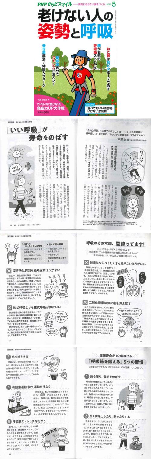健康誌『PHPからだスマイル』に本間先生取材記事が掲載